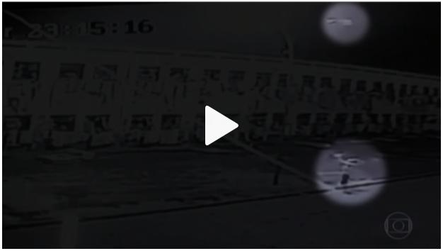 Câmera flagra invasão de drone a penitenciária de Mato Grosso do Sul - Fantástico